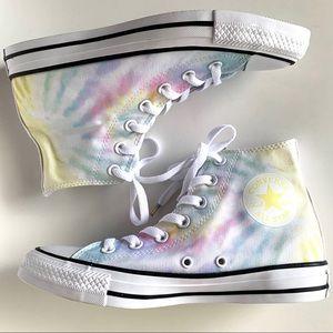 New Converse Chuck Taylor High Tops Tye Dye Shoes